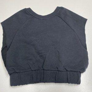 Silence + Noise Cropped Sweatshirt Sleeveless XS